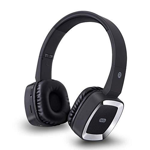 Winnes Draagbare bluetooth hoofdtelefoon, Bluetooth koptelefoon Hi-Fi stereo draadloos Headsets voor over het oor Geluidswering Ondersteuning van TF-kaart MP3-speler