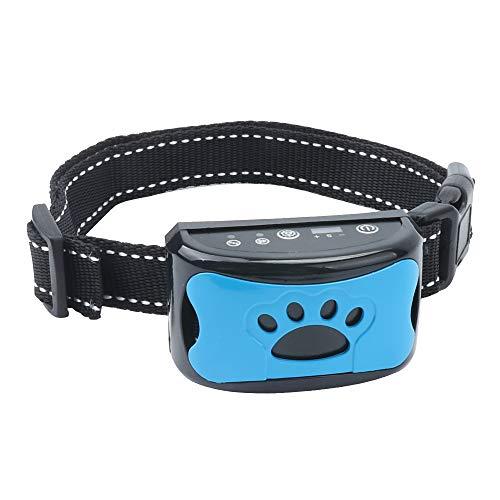 TLOG Rechargeable Dog Bark Collar, Barking Control Training Collar with Beep Vibration & 7 Adjustable Sensitivity, Anti Barking Collar, No Harm Shock Anti Barking Device for Small Medium Large Dogs