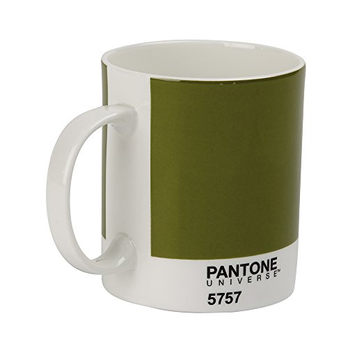 Whitbread Wilkinson Pantone Bone China Mug, Olive Green