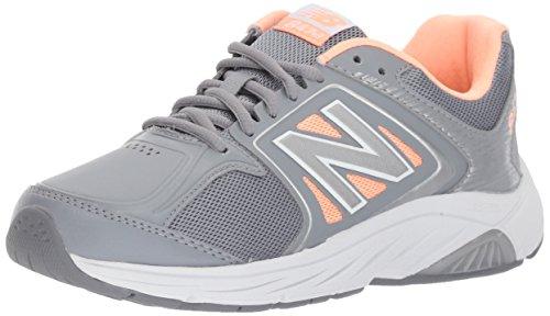 New Balance Women's 847 V3 Walking Shoe, Grey/Pink, 8.5 W US