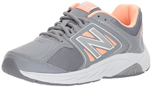 New Balance Women's 847 V3 Walking Shoe, Grey/Pink, 9 M US