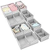 mDesign Juego de 8 Cajas de almacenaje para Cuarto Infantil y Ropa de bebé –...