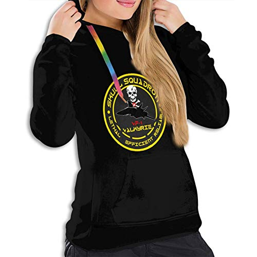 Robotech Logo Vf-1 Valkyrie Vfa-103 - Sudadera con capucha para mujer, color negro