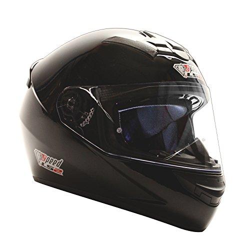 LS2 Motorradhelm FF352 Rockie - Unisex Motorrad Integralhelm in diversen Farben 1 Sturmhaube (XXL, schwarz Gloss)