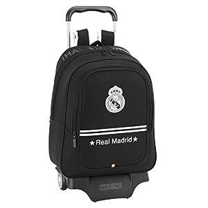 41dno2S7YuL. SS300  - Real Madrid - Mochila Carro Grande, 33 x 43 cm, Color Negro (SAFTA 611524313)