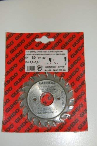 GUHDO HM Vorritz-Sägeblatt 80x2,8x20 | Z 2x10 V | Made in Germany