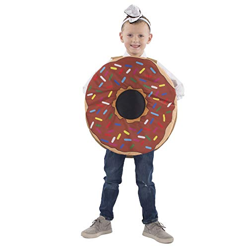 Dress Up America Sprinkle Doughnut Costume for Kids, Multi, One Size Unisex-Adulto