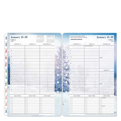 FranklinCovey Classic Seasons Weekly Ring-Bound Planner - Jan 2020 - Dec 2020