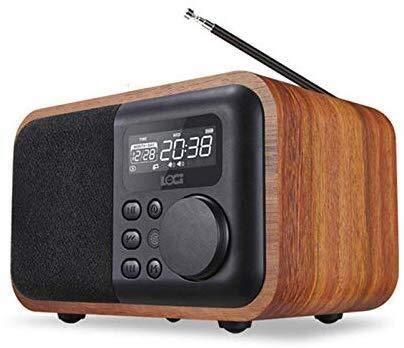 Tragbare Lautsprecher Radiowecker Wireless-Bluetooth-USB-Retro Musik (Color : A)