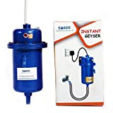 SWAGG Instant Water Gyser/Heater fitted with ISI heating element with complete Accessories set - Best for Kitchen, Bathroom, Hotel, Hospital & Outdoor (Blue/Grey) (Basic Model)