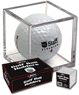 BCW Golf Ball Square - Holder & Display Case (Box of 6 Cubes)