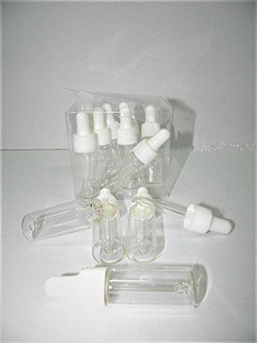 12 X Flacon 7ml verre avec compte gouttes bouchon compte gouttes pipette