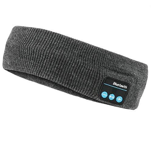 WIOR Sleep Headphones Bluetooth Headband Wireless Sports Headband Hands-Free Music Bedphones Sleep Headphones with Stereo Speaker and Mic Speakers for Workout Running Jogging Yoga Side Sleepers