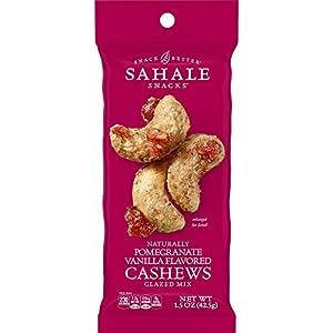 Sahale Snacks Pomegranate Vanilla Flavored Cashews Glazed Mix, 1.5 Ounces (Pack of 18)