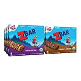 Case includes 36 Zbars total, 18 bars of each flavor: Chocolate Chip and Chocolate Brownie Zbars are packed in 6 count boxes (3 boxes of each flavor) SOFT-BAKED & WHOLE GRAIN: Zbar is an organic, soft & chewy snack bar made with 8-11g whole grains; i...