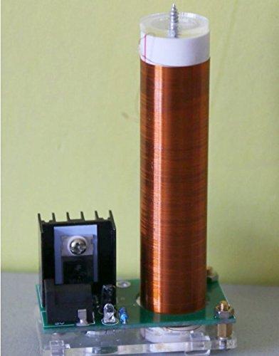 Bluelover 700K Mini Coil Tubo Neon Glow Coil con Alimentatore A Piastre Trasparente per Tesla