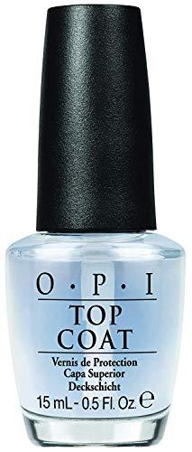 OPI Top Coat - Capa Superior para un Acabado de Larga Duración tras el Esmalte de Uñas, Efecto Manicura Profesional - 15 ml