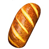 Gecter Funny 3D Simulation Bread Shape Pillow Soft Lumbar Back Cushion Plush Stuffed Toy for Home Decor (60CM)