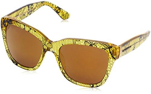 Dolce & Gabbana Damen 0Dg4226 2974F9 56 Sonnenbrille, Beige (Chantilly Lace/Tr Lemon/Brownmirrorbronze)