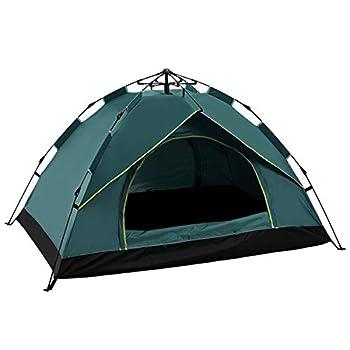 LIKOSO Tente Pop-up Ouverture Automatique étanche à l'eau pour Une Utilisation en Plein air Le Camping Tente Portable léger Sac à Dos Protection Solaire Tente de Plage (2 Personnes, Vert foncé)