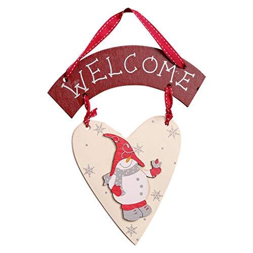 Demino Sneeuwman Hart Vorm Welkom Teken Kerst Tekenen Welkom Plaque Voordeur Kerstmis Hangende Board Kerstmis Tekenen Thuis Shop Decoratie Plaat