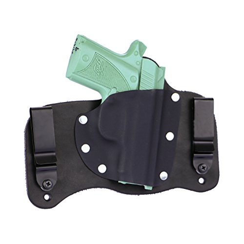 FoxX Holsters Kimber Micro 9 in The Waistband Hybrid Holster Tuckable, Concealed Carry Gun Holster (Black)