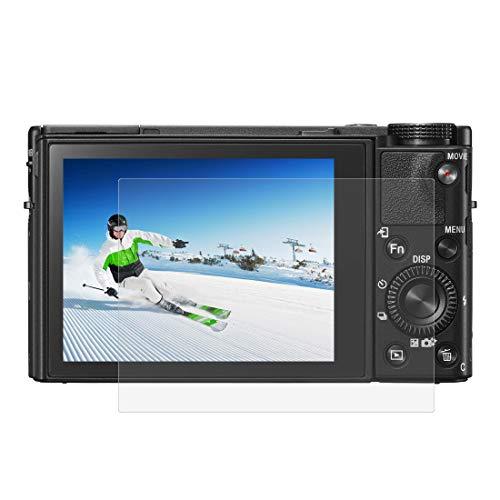 BYbrutek Protector de Pantalla de Vidrio Templado para Sony RX100/A7M2/A7R2, 0,3 mm, Ultratransparente, Dureza 9H, sin Burbujas, Antihuellas (RX100/A7M2/A7R2)