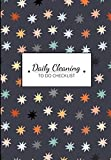 Daily Cleaning to do Checklist: Colourful Pattern Print Home Organiser - Checklists for Cleaning, Shopping, Appointments | Bonus - Monthly Budget Tracker & Weekly Meal Planner