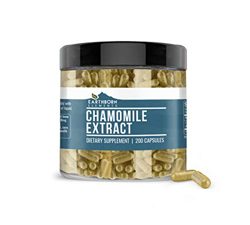 Chamomile Extract, 200 Caps, 450 mg Serving, Non-GMO, Pure, Potent & Natural, No Rice Fillers or Stearates, Made in The USA, Lab-Tested Quality, Satisfaction Guaranteed