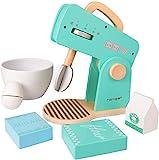 Rolimate Rührgerät aus Holz, Küchenspielzeug für Kinder Kochen Koch Rollenspiele Pädagogisches Lernen Spielzeug, Mixer mit Zubehör, Montessori Bildungsentwicklung Geburtstagsgeschenk für 3 4 5+ Jahre
