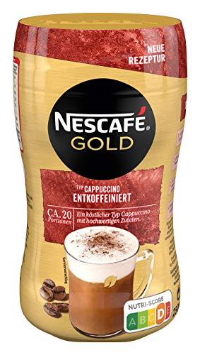 NESCAFÉ Gold Typ Cappuccino Entkoffeiniert, Getränkepulver aus entkoffeiniertem löslichem Bohnenkaffee, 1er Pack (1 x 250g)