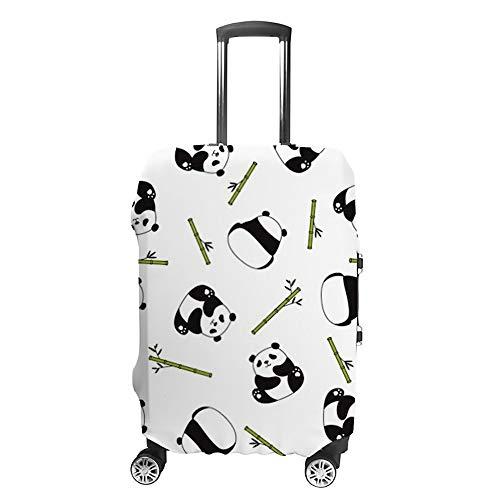 Funda para Maleta de Viaje de Chehong, Lavable a Prueba de Polvo, Resistente al Agua, poliéster para 18 – 32 Pulgadas, antiarañazos, Oso Panda Polar, de bambú, con diseño de Dibujos Animados