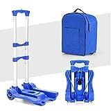 Luminiu Handgepäckwagen Mit Aufbewahrungsrucksack, Einkaufswagen Aus Aluminiumlegierung, Tragbarer Zusammenklappbarer Gepäckwagen, Kleiner Anhängerwagen