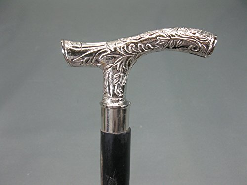 Heritage Chabby M112 - Bastón de senderismo (madera usada, 92 cm, mango de metal)