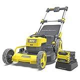 Battery Lawn Mower,80V 6.0Ah,21-Inch Cordless Lawn Mower,5 Adjustable...