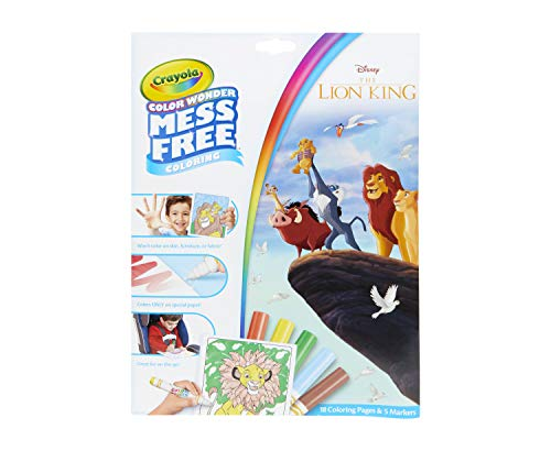 Crayola Lion King Pages & Markers Color Wonder Pad and Markers, Multicolor