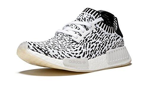 Adidas Herren NMD R1 Primeknit Sneaker, Mehrfarbig (Ftwbla / Ftwbla / Negbas), 44 EU