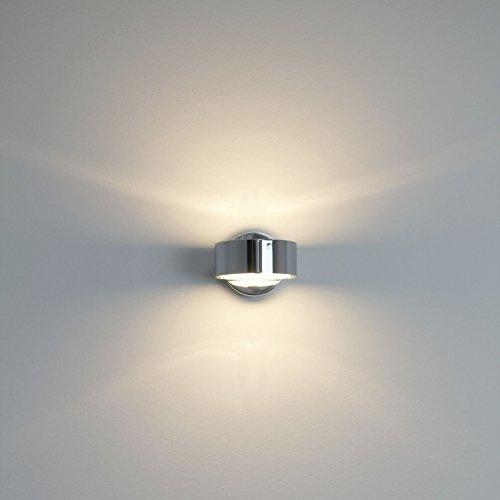 Top-Light Puk Wall Wandleuchte Chrom glänzend - Leuchtenkopf Glas/Glas