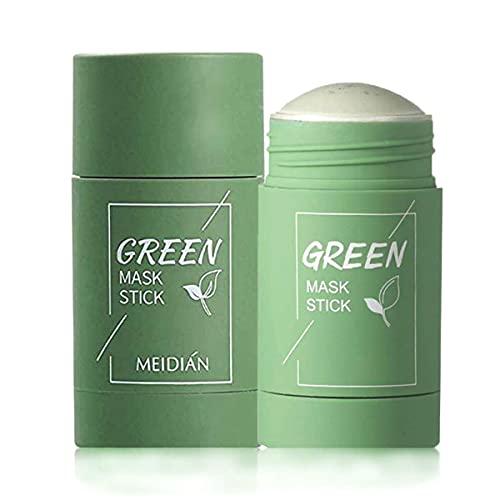 Grüner Tee Purifying Clay Mask Stick Ölkontrolle Gesichtsmaske, Stick Cleansing Anti-Akne-Maske Fine Solid Mask Green Tea, Akne Cleansing Solid Mask (Greet Tea)