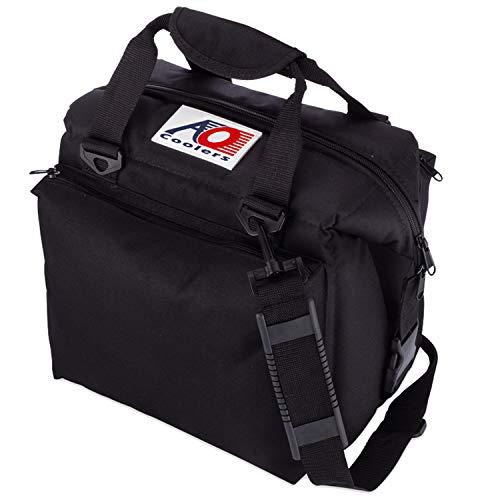 AO Coolers Traveler Original Soft Cooler with High-Density Insulation, Black, 12-Can