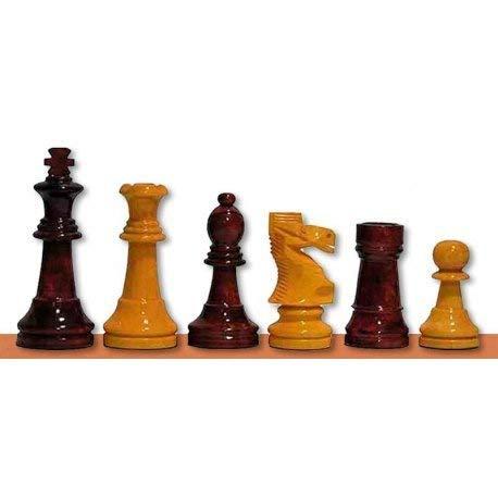 Desconocido Piezas de ajedrez Staunton 6 Amarillo/Rojo Brillo