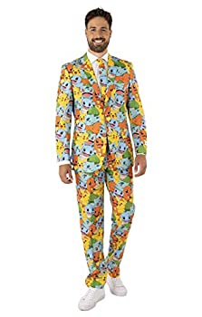Opposuits for Men Official Suits - Pokémon - Comes with Jacket Pants and Tie