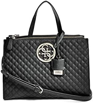 GUESS G Lux Quilted Status Satchel Bag Handbag