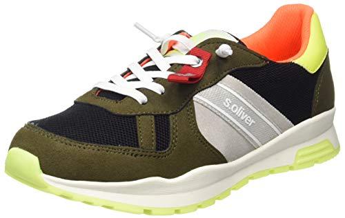 s.Oliver Jungen 5-5-43109-22 070 Sneaker, Black/Khaki, 36 EU