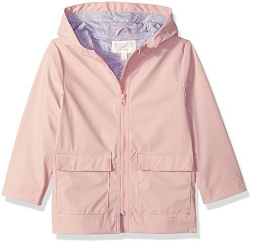 Gymboree Girls' Big Woven Rain Jacket, Pink Blossom, L