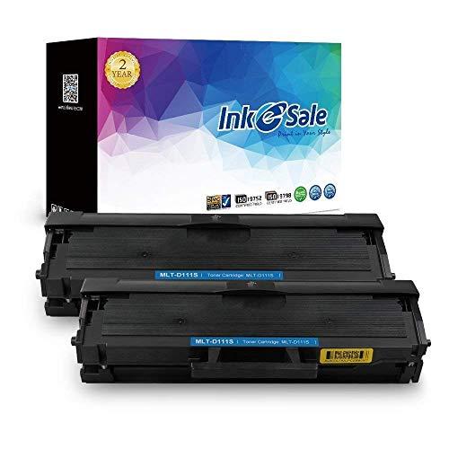 INK E-SALE 2x kompatibel Tonerkartuschen zu Samsung MLT-D111S MLTD111S D111S 111S für Samsung Xpress M2026/M2026W, M2070/M2070W, M2070F/M2070FW, M2022/M2022W Drucker schwarz, ca. 1.000 Seiten