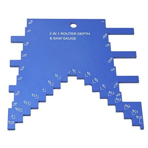 Calibro di profondità del gradino, Misuratore di profondità per sega 2 in 1, sega circolare da banco professionale per sega cir