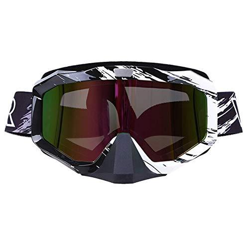 STARKWALL Outdoor Ciclismo Gafas Off Road Oculos Motos Motocross Gafas Skate Gafas De Esquí Para Cafe Racer Casco Eyewear Blanco colorido