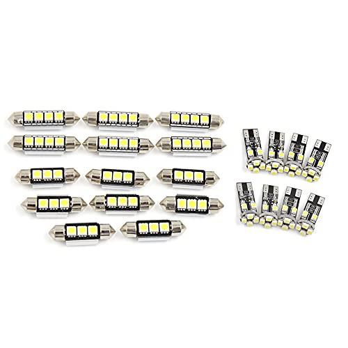 sourcingmap blanche Canbus LED Carte Dome Kit Intérieur