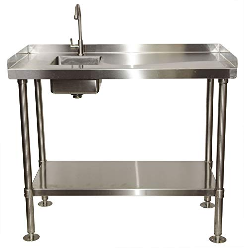 RITE-HITE Stainless-Steel Fillet Cleaning Table - Left Sided Sink
